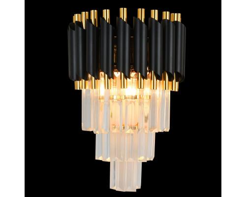 Купить Бра Natali Kovaltseva DARIAN 76017/2W GOLD BLACK  VIVID-LIGHT.RU
