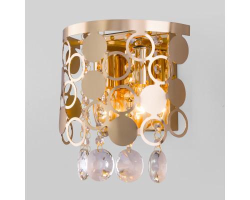 Оформить заказ Бра Eurosvet 10114/2 золото/прозрачный хрусталь Strotskis  VIVID-LIGHT.RU