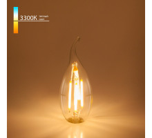 Светодиодная лампа Elektrostandard Свеча на ветру 7W 3300K E14 (CW35 прозрачный) (BLE1416)