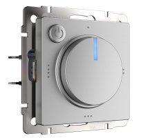 W1151106/ Электроустановочные изделия - Терморегулятор электромеханический для теплого пола (серебряный)
