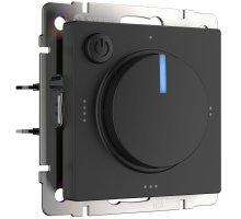 W1151108/ Электроустановочные изделия - Терморегулятор электромеханический для теплого пола (черный)